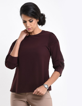 Sleeve Pintuck WW Top