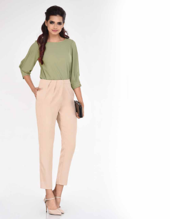 Pleated Hem Pant