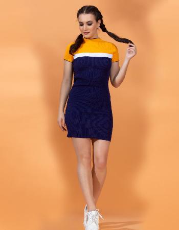 Color Block Rib Dress By Kelly Felder at Kapruka Online forexternalFeedProduct