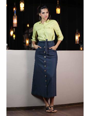 High Waist Linen Maxi Skirt