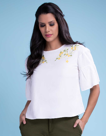 Embroidery T Shirt Top