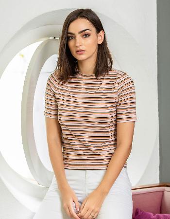 Stripe Basic T Shirt