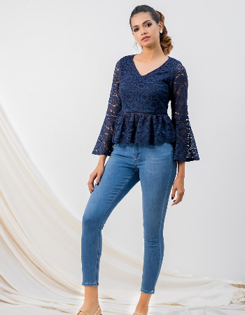 Lace Long Sleeve Top_