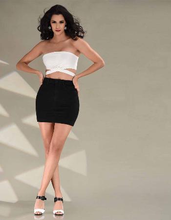 High Waist Short Skirt