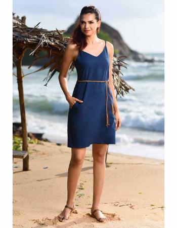 Basic Shift Linen Dress
