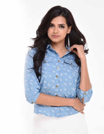 Printed Chambray Shirt