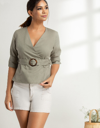 Feel The Nature Linen Top