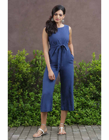 The Front Linen Jumpsuit