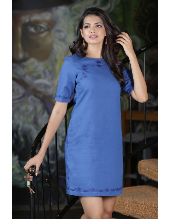 Embroided Shift Dress