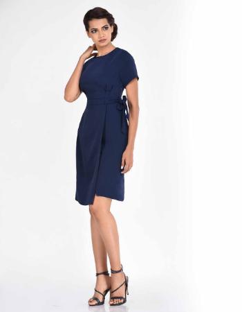 Plain Overlap WW Dress