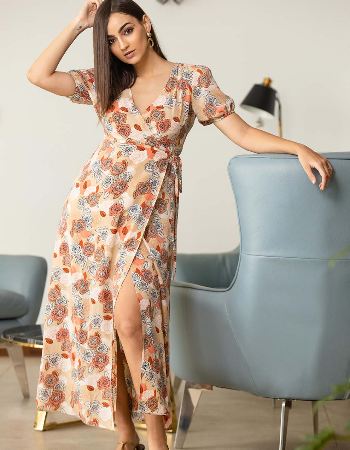 Floral Beauty Wrap Dress