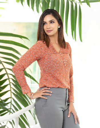 Small Floral Print WW Top