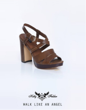 """"""" Seraphina """" Open-Toe Sling Back With Block Heels"""