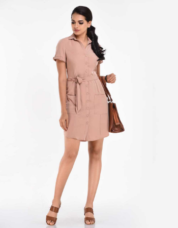 Button Tuck WW Dress