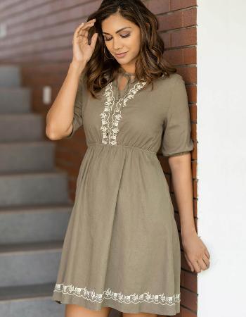 Boho Valley Linen Dress