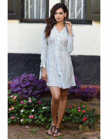 Stripe's Way Linen Dress