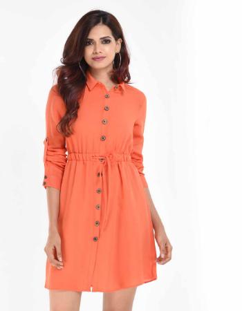 Elasticated Detail Shirt Dress
