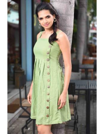 Side Button Linen Dress!
