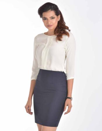Basic above knee length skirt