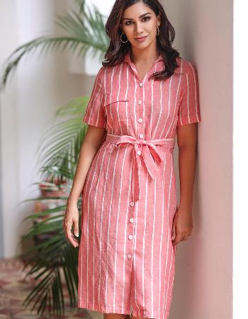 Merry Making Linen Dress