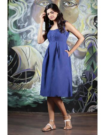 Summer Beauty Embroidery Linen Dress