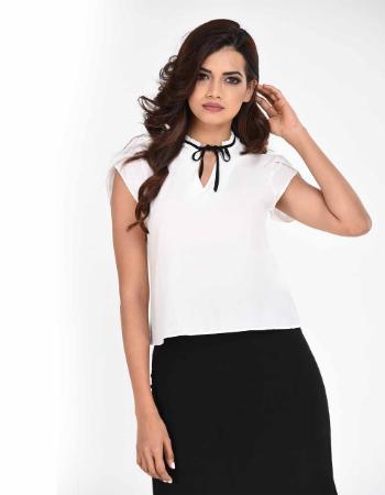 Bow Tie Pleats Fashion Top