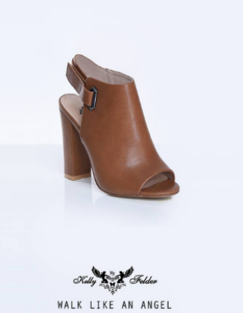 """"""" Leyla """" Ankle High Slingback With Block Heels"""