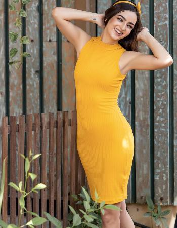 Sleeveless Rib Dress