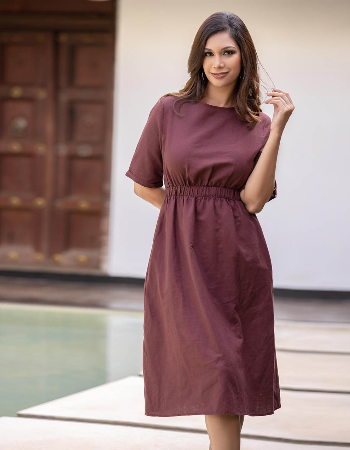 Hide In The Valley Linen Dress