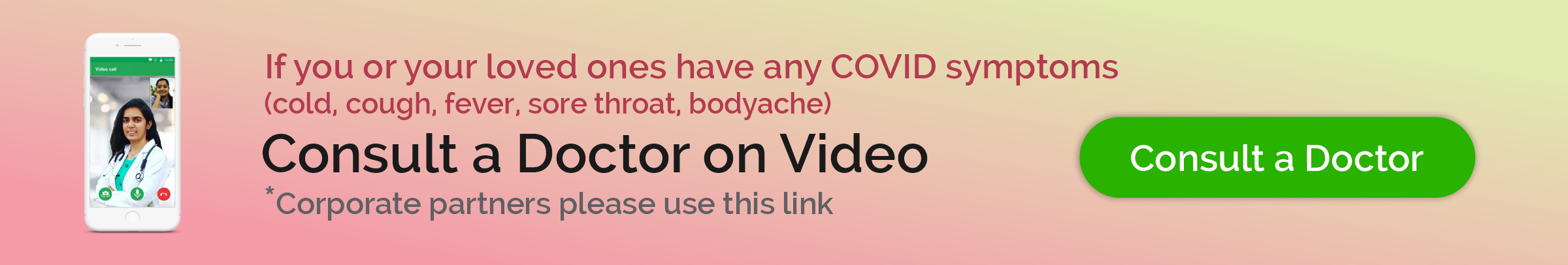 Online Doctor consultation for Covid Positive