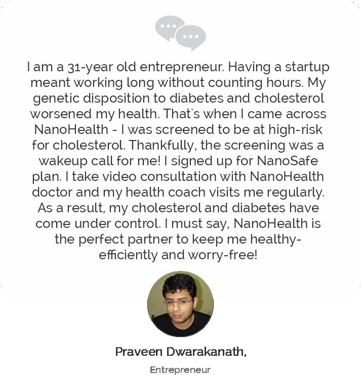 Praveen Dwarkanath Testimonial on Health Recovery