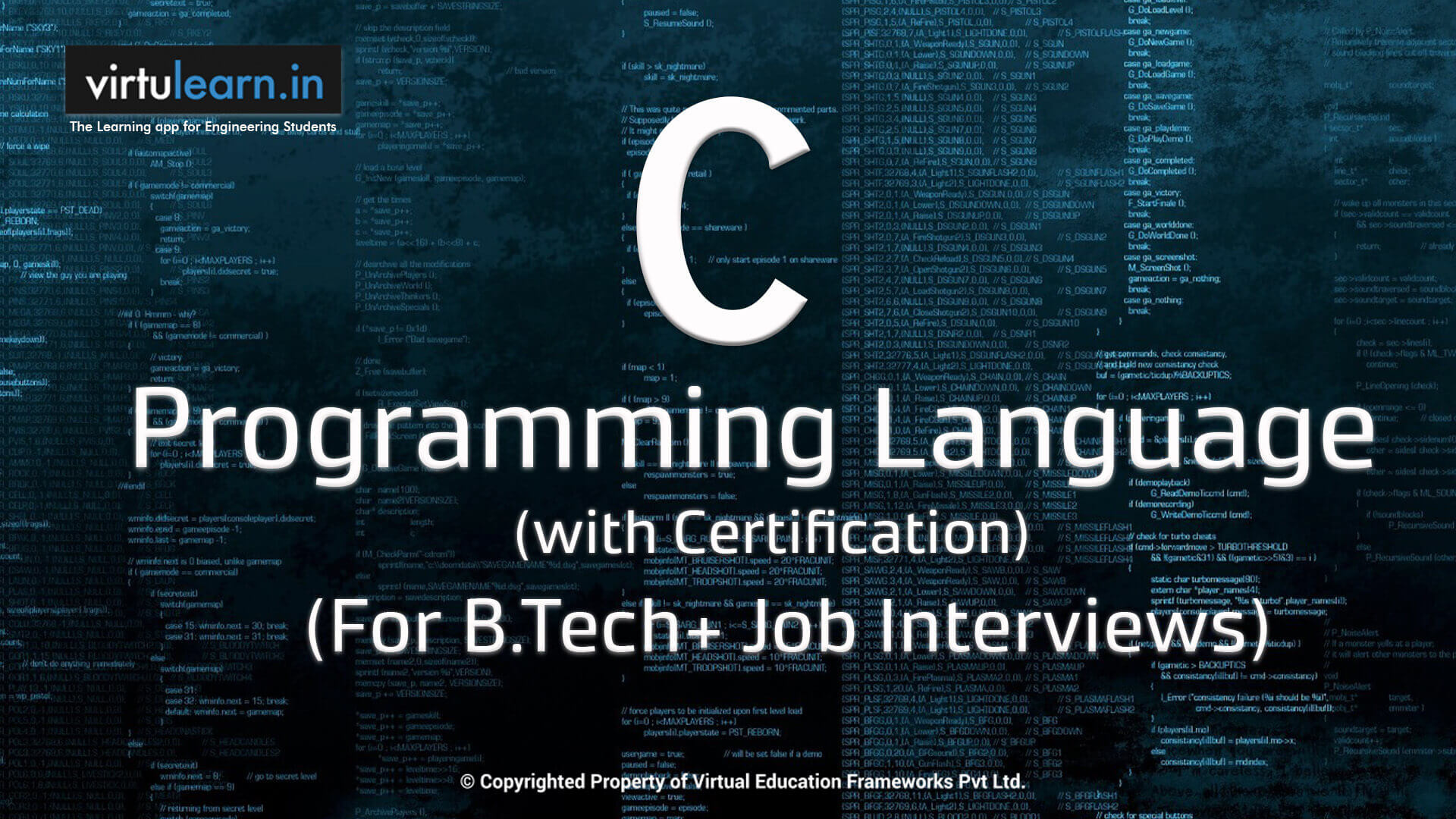 C Programming with Certification online videos