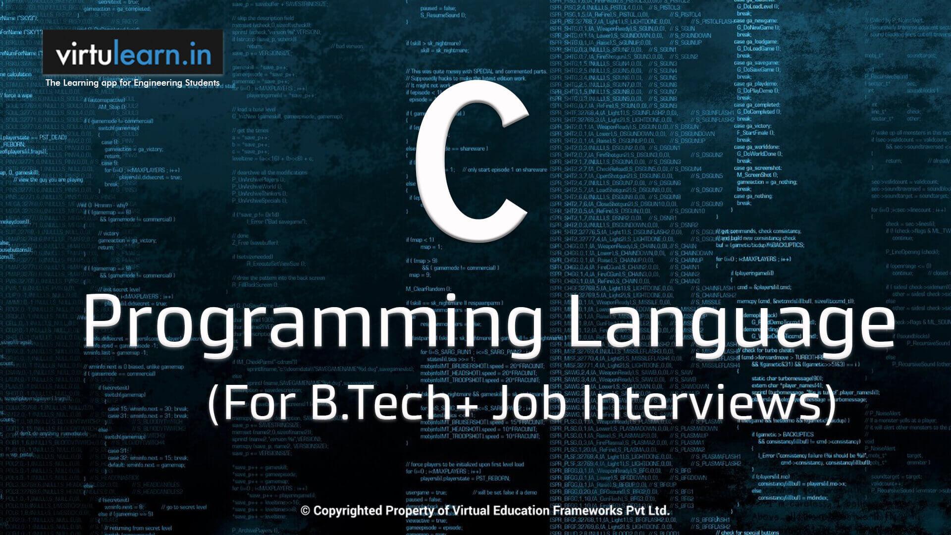 C Programming  online videos