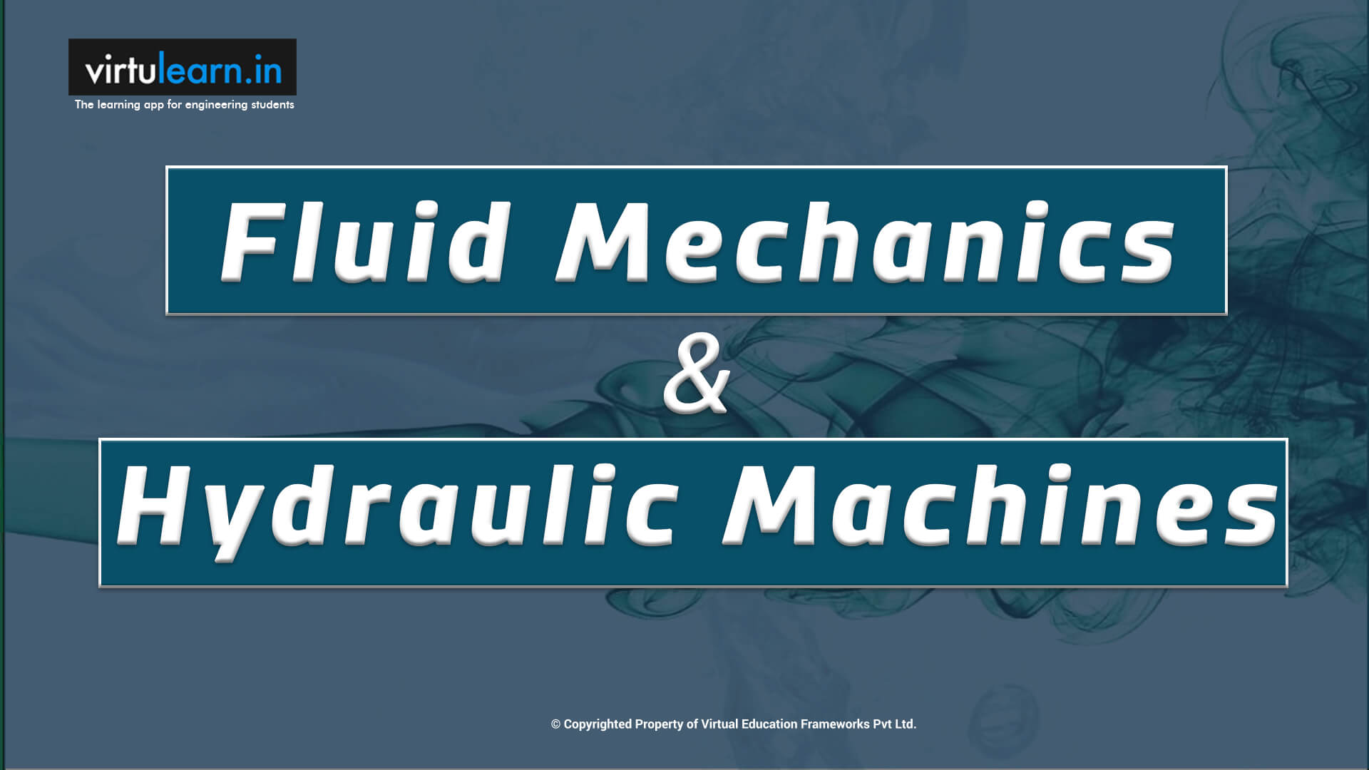Fluid Mechanics and Hydraulic Machines online videos