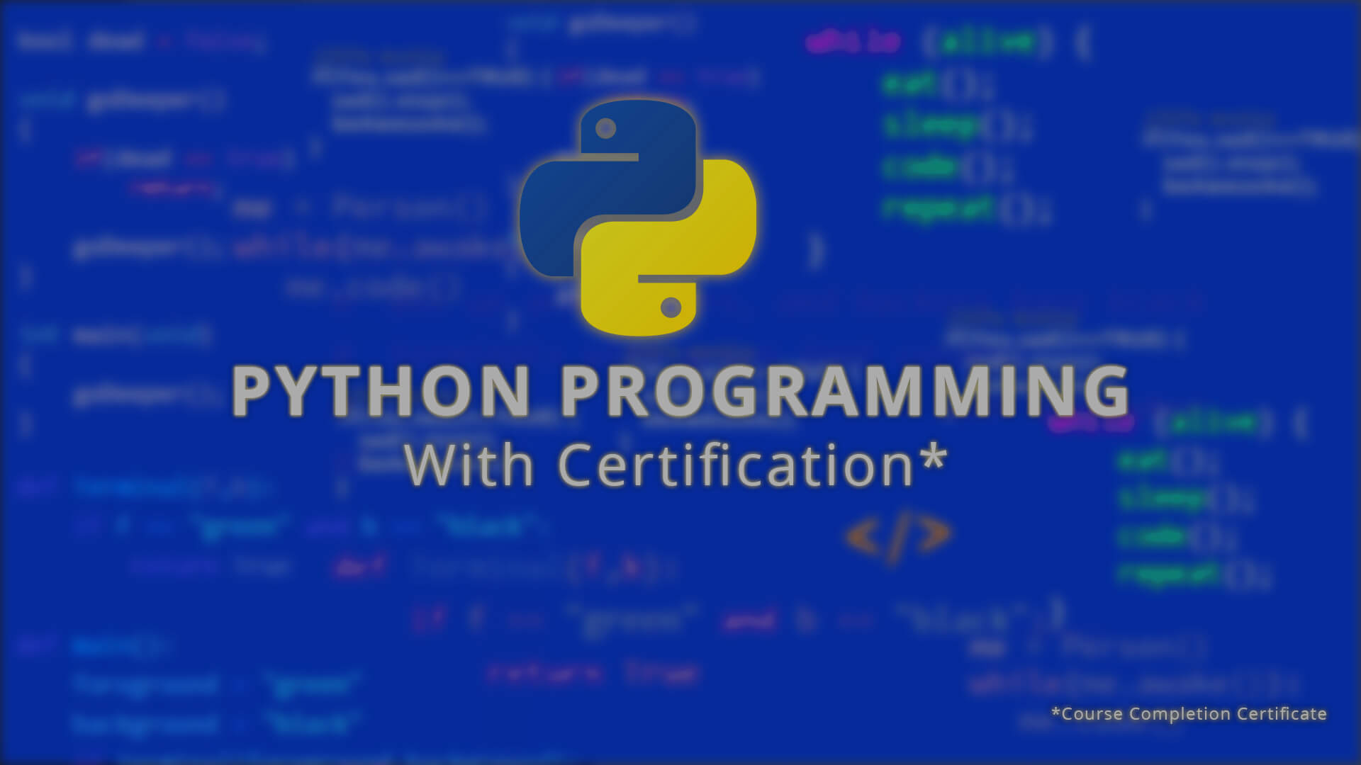 Python Programming  with Certification online videos