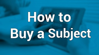 How to  Buy a Subject