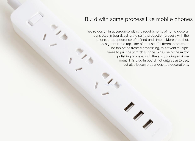 Mi Power Strip 3 USB 3 Sockets