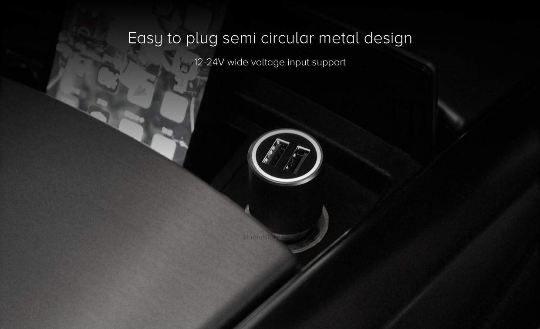 Xiaomi Mi Qualcomm Car Charger QC 3.0 X2 Quick Dual USB Metal Style online buy in pakistan