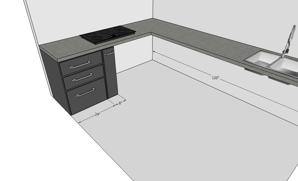 Modular Kitchen design with Bottle Pullout