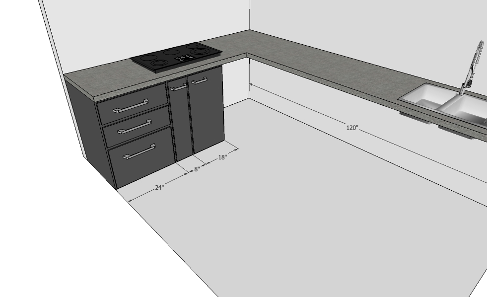 Modular Kitchen Design with Cabinet
