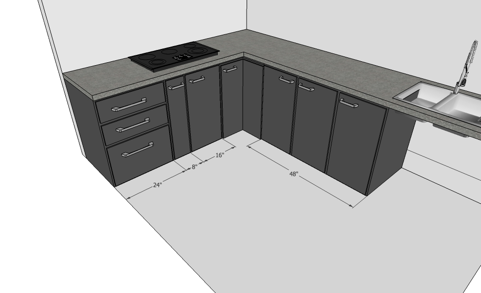 Modular Kitchen Design with More Cabinets