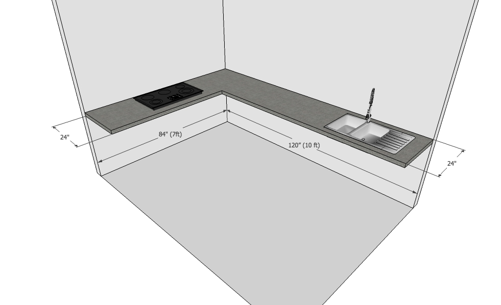 Modular Kitchen Design Measurements
