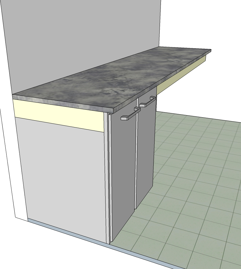 Modular Kitchen unit with even door