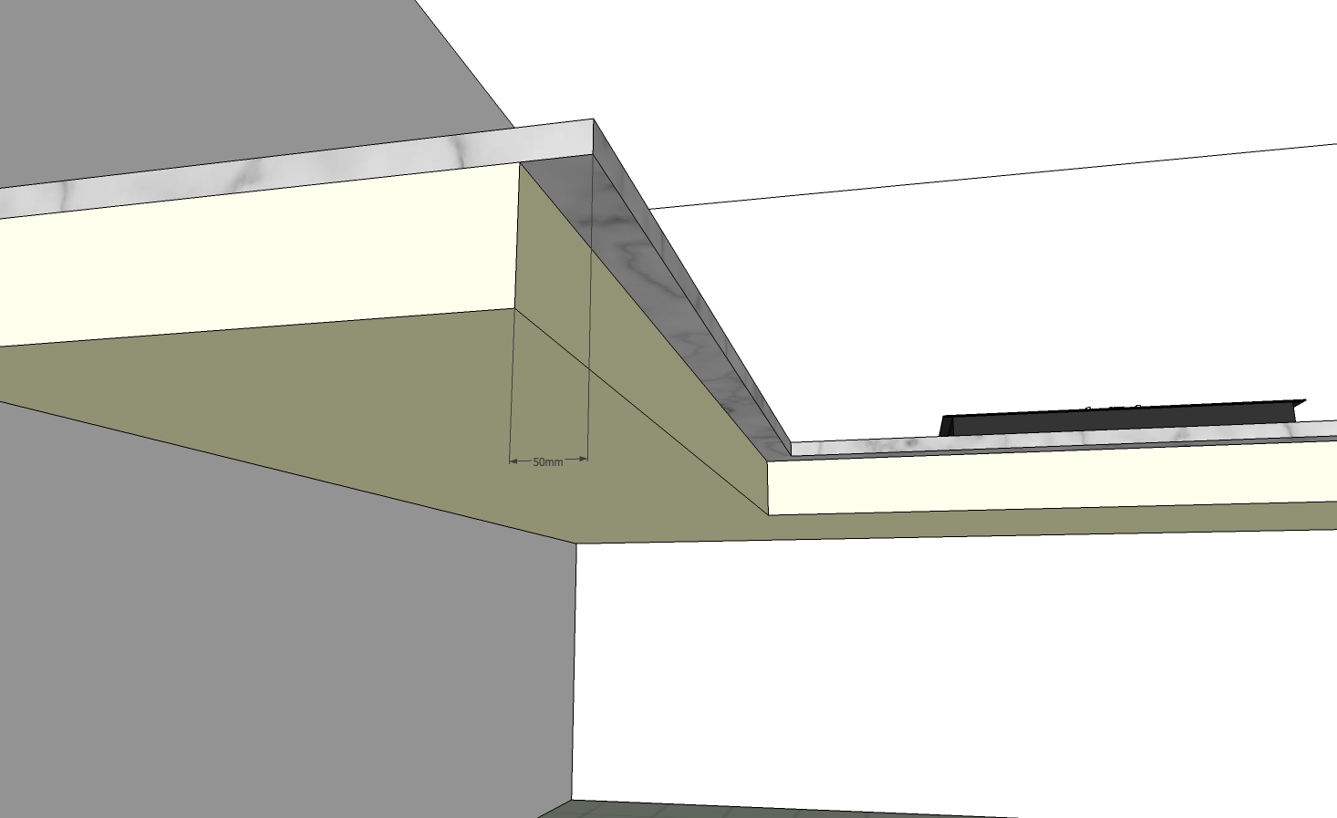 Modular Kitchen Granite Nose Depth