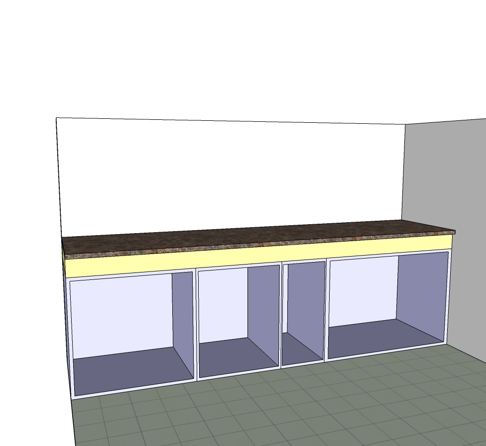 Modular Kitchen with even surface