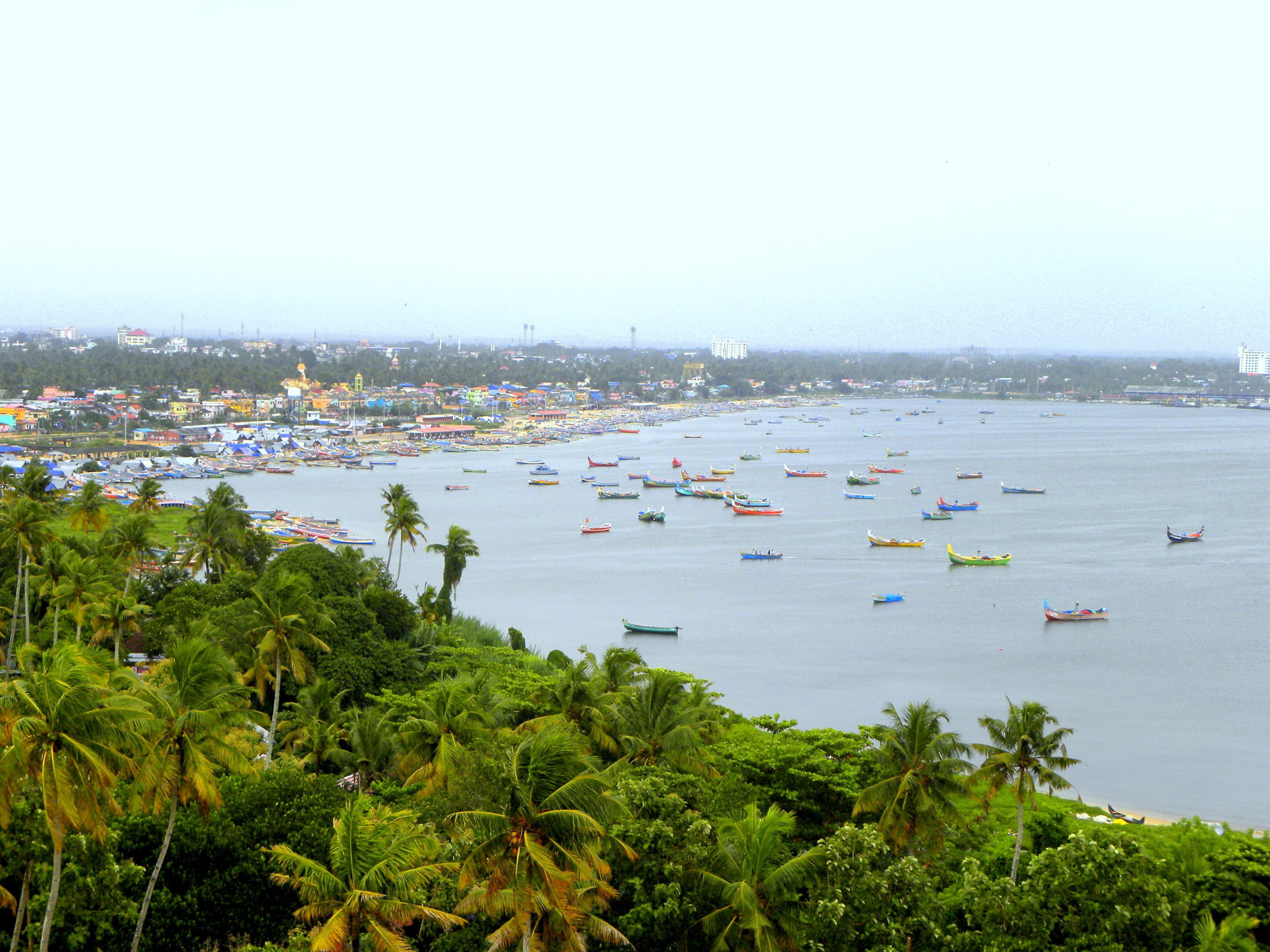The town of Kollam, Kerala