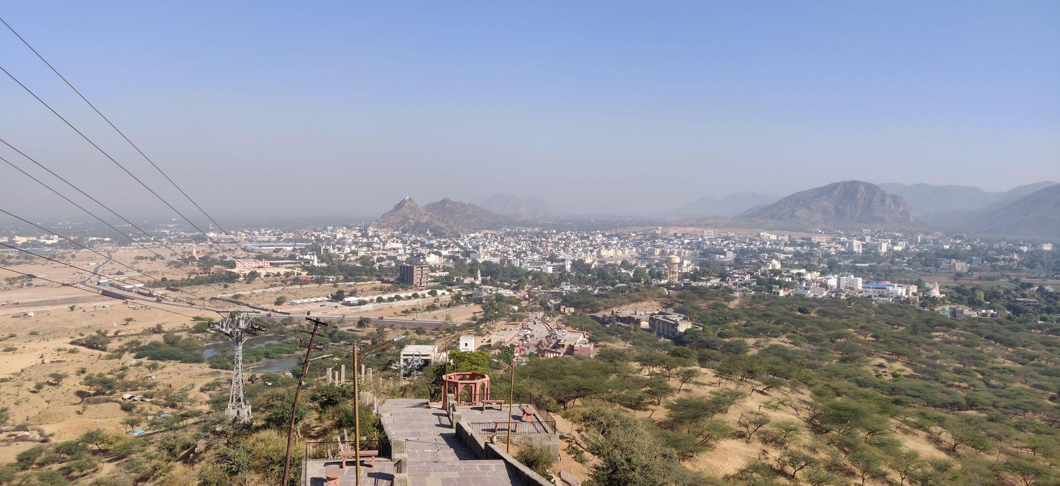 View of Pushkar city from Savitri Mata Temple