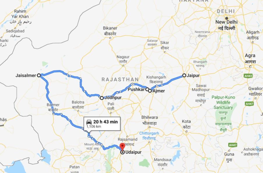 Rajasthan Itinerary: Jaipur to Ajmer, Pushkar to Jodhpur, Jodhpur to Jaisalmer, Jaisalmer to Udaipur