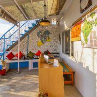 Reception desk at our backpacker hostel near Nainital