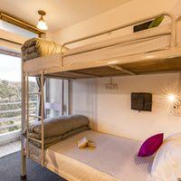 Cosy dorm of our hostel near Nainital